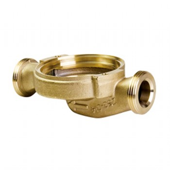 Forged brass water meter body/housing