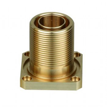 precision machined brass fiber connector